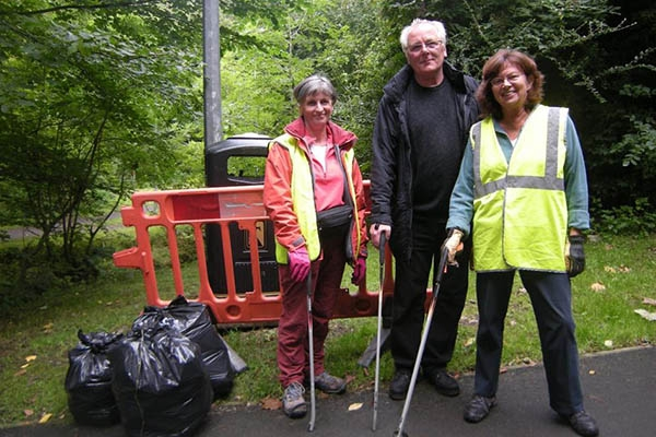 Litter Picks in the Saltings and Lusset Glen